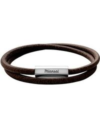 Miansai - Bare Leather Wrap Bracelet - Lyst