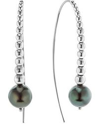 Lagos - Threader Pearl Earrings - Lyst