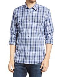 1901 - Trim Fit Plaid Stretch Flannel Button-up Shirt - Lyst
