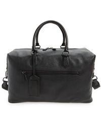 Polo Ralph Lauren Pebbled Leather Duffel Bag - Black