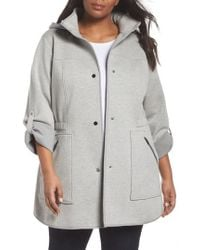 Gallery - Hooded Knit Anorak - Lyst