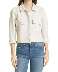 Rails Steffi Heathered Shirt Jacket - Blue