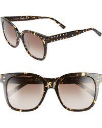 Rebecca Minkoff Cyndi 54mm Studded Sunglasses - Dark Havana - Brown