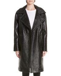 Yigal Azrouël - Oversized Laminated Tweed Coat - Lyst