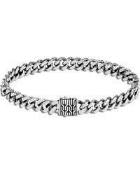 John Hardy Classic Chain Sterling Silver Bracelet - Metallic