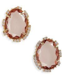 Serefina - Crystal Stud Earrings - Lyst