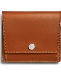 Shinola Birdy Leather Snap Wallet - Brown
