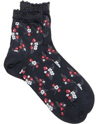 Anna Sui Cherry Crew Socks - Multicolor
