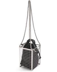 TOPSHOP - Cara Cage Crossbody Bag - Metallic - Lyst 1fea44fc628d9