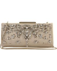 Badgley Mischka Badgley Mischka Gale Embellished Clutch - - Metallic