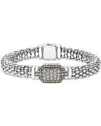 Lagos | Diamonds & Caviar Large Diamond Bracelet | Lyst