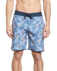 Travis Mathew Macklovin Board Shorts - Blue