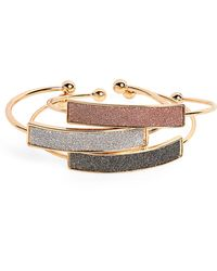 Panacea - Set Of 3 Cuff Bracelets - Lyst
