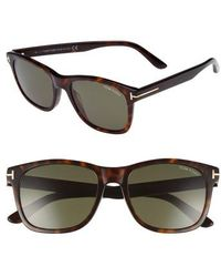 9c097d17c71 Lyst - Tom Ford Sunglasses Ft 0058 Cary 52n Dark Havana   Green in ...