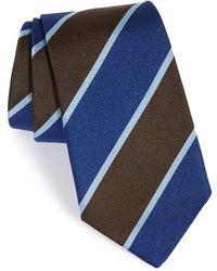 Gitman Brothers Vintage Stripe Silk Tie - Brown