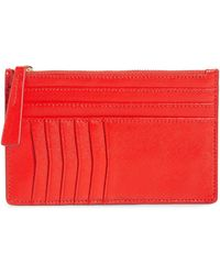 Nordstrom Margaux Leather Passport & Card Case - Red