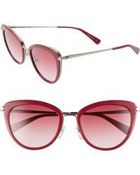 78111448a5 Longchamp - Roseau 54mm Cat Eye Sunglasses - Strawberry - Lyst