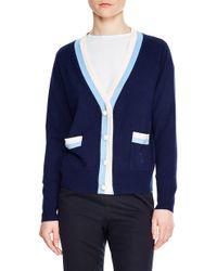 Sandro Clotilde Stripe Wool & Cashmere Cardigan