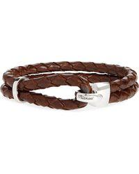 Miansai Beacon Braided Leather Bracelet - Brown
