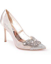 Badgley Mischka - Women's Quintana Glitter & Mesh High-heel Pumps - Lyst