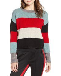 Pam & Gela - Stripe Crop Sweater - Lyst