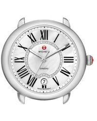 Michele - Serein 16 Diamond Dial Round Watch Head - Lyst