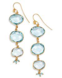 Gas Bijoux - Aquamarine Linear Drop Earrings - Lyst