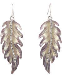 Alexis Bittar Feather Drop Earrings - Multicolor