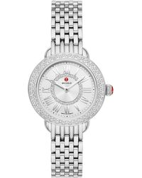 Michele Serein Diamond Bracelet Watch - Metallic