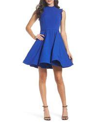 Mac Duggal - Embellished Ruffle Fit & Flare Dress - Lyst