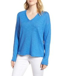 Manchester For Sale Linen And Cotton Blend Sweater - Womens - Blue R13 Free Shipping Release Dates Exclusive Online Cheap Official Site Very Cheap Cheap Online j3U6Y
