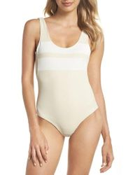 Hurley - Quick Dry Block Party One-piece Swimsuit - Lyst