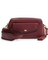 MICHAEL Michael Kors - Small Leather Camera Bag - Burgundy - Lyst