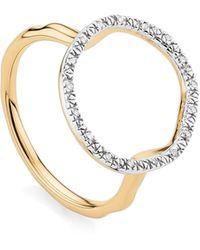 Monica Vinader Riva Circle Diamond Ring - Blue