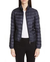Moncler Lans Quilted Lightweight Down Jacket - Blue