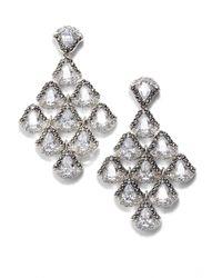 Judith Jack - Semiprecious Stone Chandelier Earrings - Lyst
