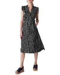 Whistles - Misha Savannah Print Wrap Dress - Lyst