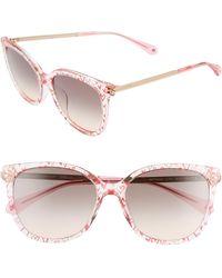 Kate Spade - Britton 55mm Cat Eye Sunglasses - Lyst