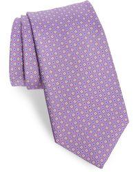 Bonobos Floral Silk Tie - Purple