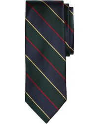 Brooks Brothers - Stripe Silk Tie - Lyst