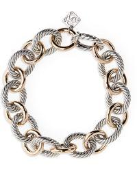David Yurman Large Oval Link Bracelet With 18k Rose Gold - Metallic