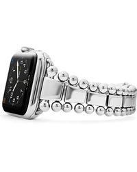 Lagos Stainless Steel Smart Caviar Appletm Watch Band - Metallic