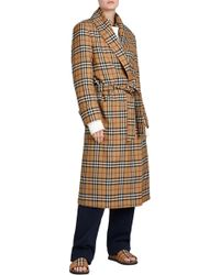 Burberry - Check Trench Coat - Lyst