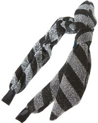 Tasha - Metallic Knotted Headband - Lyst