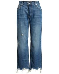 Free People - We The Free By Maggie Ripped Crop Straight Leg Jeans - Lyst