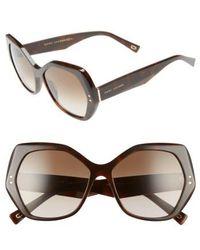 Marc Jacobs - 56mm Sunglasses - - Lyst