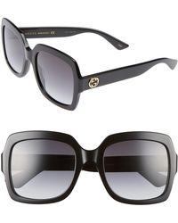 Gucci - 54mm Square Sunglasses - Lyst