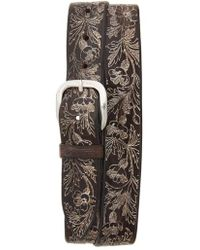 Orciani - Wax Soapy Tooled Leather Belt - Lyst