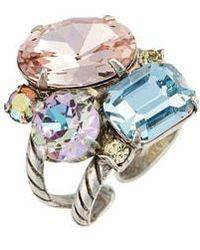 Sorrelli - Cluster Crystal Cocktail Ring - Lyst