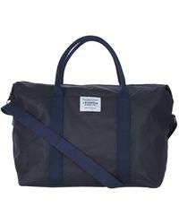 Barbour Eadan Waxed Cotton Duffle Bag - Blue